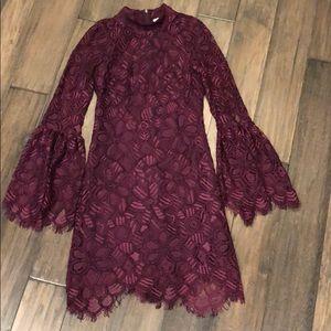 Allison New York lace flare sleeve dress